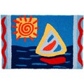 Sunny Sailing Blue Indoor/ Outdoor Rug (1'9 x 2'9)