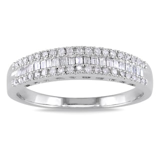 Miadora 14k White Gold 1/4ct TDW Diamond Ring (G-H, I1-I2)