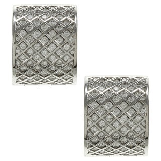 Pre-owned 18k White Gold 1 1/4ct TDW Diamond Estate Cuff Earrings (G-H, SI1-SI2)