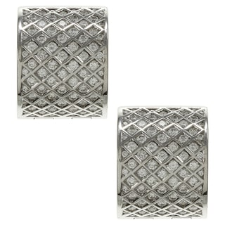 18k White Gold 1 1/4ct TDW Diamond Estate Cuff Earrings (G-H, SI1-SI2)