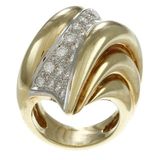 18k Yellow Gold 1 4/5ct TDW Diamond Estate Cocktail Ring (I-J, SI1-SI2)