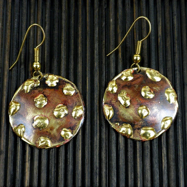 Copper and Brass Make Your Mark Earrings (South Africa)