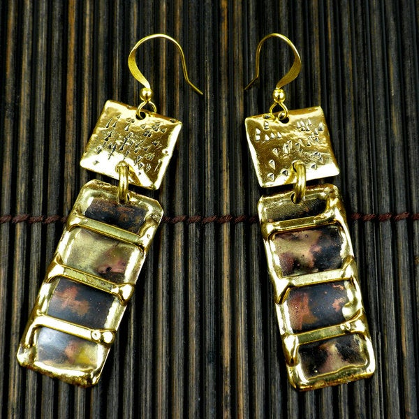 Handmade Copper and Brass Duo Earrings (South Africa)