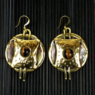 Handmade Tigers Eye Strength Earrings (South Africa)