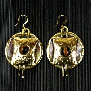 Handmade Tigers Eye Strength Earrings (South Africa)