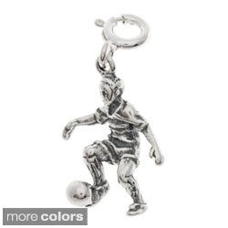 Sterling Silver Soccer Player Charms