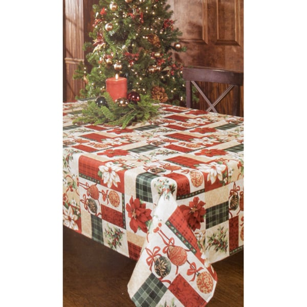 Calico Christmas 52x70 Oblong Printed Tablecloth