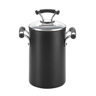 Circulon 3.5-quart Black Pot with Steamer