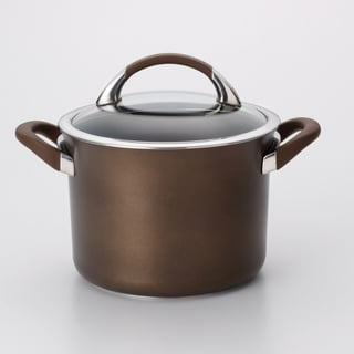 Circulon Symmetry 4-Quart 'Chocolate' Covered Saucepot