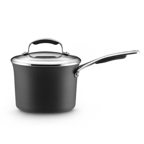 KitchenAid Gourmet Hard-anodized Nonstick 3-quart Grey Covered Saucepan