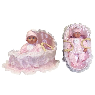 Me and Molly P. 16-inch 'Tina' Baby Doll and Corn Husk Basket