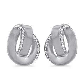Sterling Silver 1/6ct TDW Diamond Swirl Earrings (J-K, I2-I3)