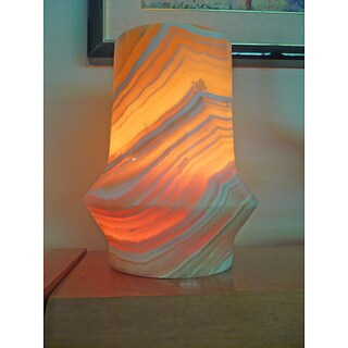 Handmade 'Aladdin' Alabaster Lamp (Egypt)