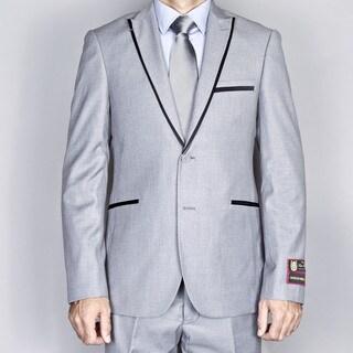 Men's Grey Modern Lapel Slim Fit Suit