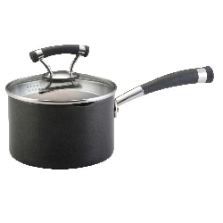 Circulon Contempo 2-quart Covered Straining Saucepan