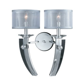 Triarch International Chrome Two-light Wall Sconce