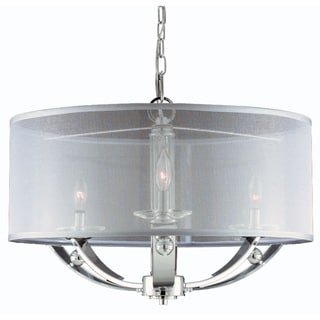 Aurora 3 light Pendant in Plated Chrome finish