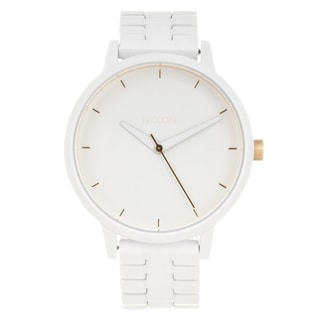 Nixon Women's White Stainless Steel 'Kensington' Watch