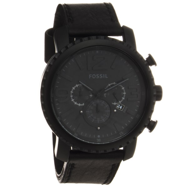 Fossil Men's Black Stainless Steel 'Gage' Chronograph Watch