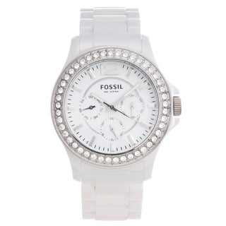 Fossil Women's Ceramic Glitz Multi-function Watch
