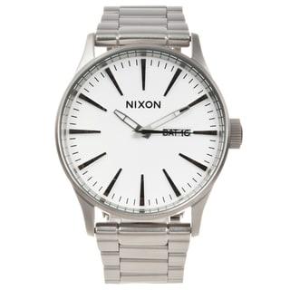 Nixon Men's Silvertone Stainless Steel 'Sentry' Watch