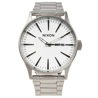 Nixon Men's Silvertone Stainless Steel 'Sentry' Watch