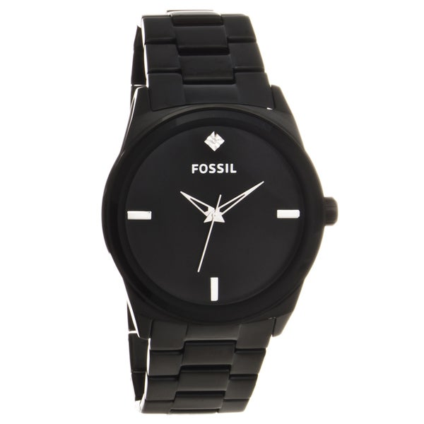 Fossil Men's Black Stainless Steel Analog Watch