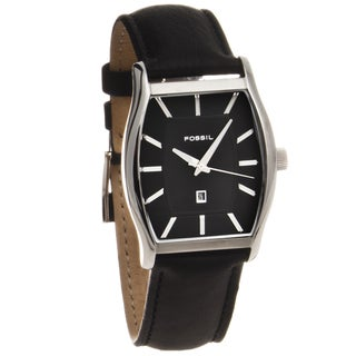 Fossil Men's Stainless Steel Tonneau Dress Watch