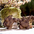 'Sumo Grand Finale' Volcanic Ash Sculpture Set (Indonesia)