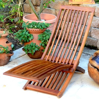 Reclaimed Teak Adjustable Folding Lounger (Indonesia)