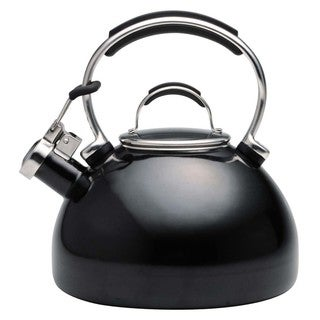 KitchenAid Black 2-qt. Porcelain/ Enamel Whistling Teakettle