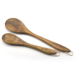 Paula Deen Signature Wood Tools 2-piece Solid Spoon Set