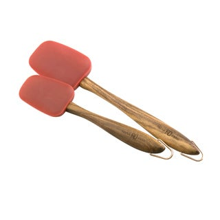 Paula Deen Signature Wood with Silicone Tools Red 2-piece Spoon Spatula Set