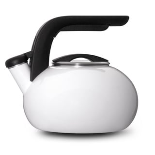 KitchenAid White Porcelain Enameled Whistling 1.5-quart Tea Kettle