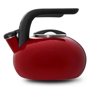 KitchenAid Red 2-qt. Porcelain/ Enamel Whistling Teakettle