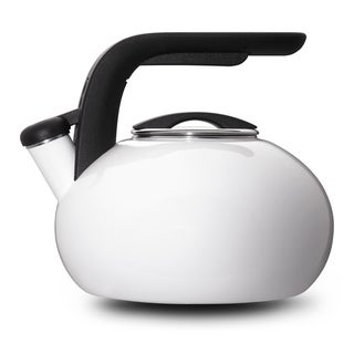 KitchenAid White 2-qt. Porcelain/ Enamel Whistling Teakettle