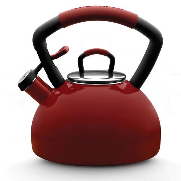 KitchenAid 51632 Red Porcelain Enamel 2.25-quart Tea Kettle