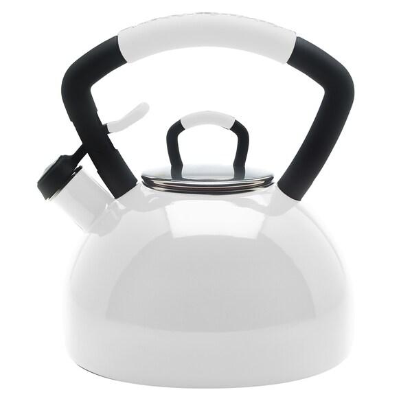 KitchenAid White Porcelain Enameled Whistling 2.25-quart Tea Kettle