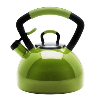 KitchenAid Pear 2.25-qt. Porcelain/ Enamel Whistling Teakettle