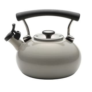 Circulon 25th Anniversary Warm Silver Whistling 2-quart Tea Kettle