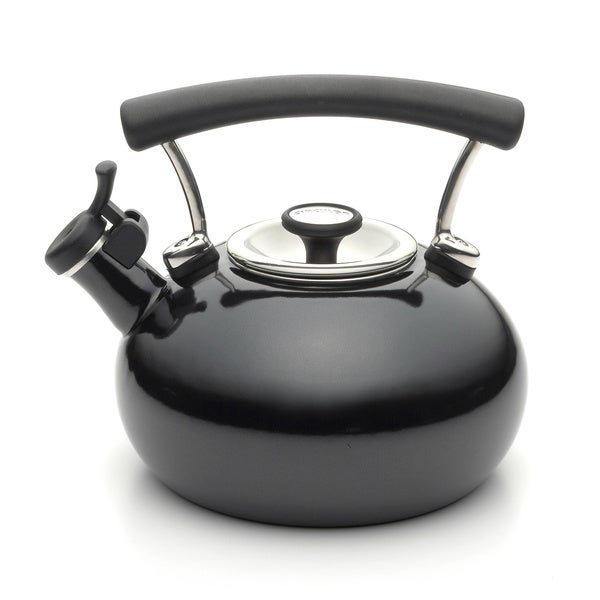 Circulon 25th Anniversary Black Whistling 2-quart Tea Kettle