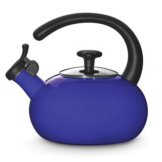 Rachael Ray Blue Porcelain Enameled 1.5-quart Tea Kettle