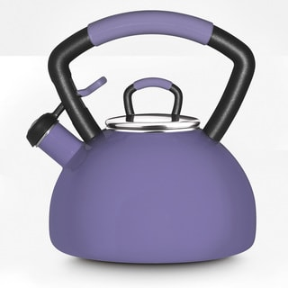 KitchenAid 2.25-quart Porcelain Enamel Lilac Whistling Teakettle