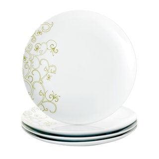 Rachael Ray 'Curly-Q' 4-piece Dinner Plate Dinnerware Set
