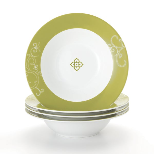 Rachael Ray 'Curly-Q' 4-piece Pasta Bowl Dinnerware Set