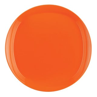 Rachael Ray 'Round and Square' 4-piece Tangerine Dinner Plate Dinnerware Set