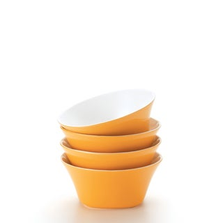 Rachael Ray 'Round and Square' 4-piece Lemon Zest Cereal Bowl Dinnerware Set
