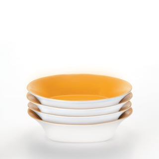 Rachael Ray 'Round and Square' 4-piece Lemon Zest Pasta Bowl Dinnerware Set