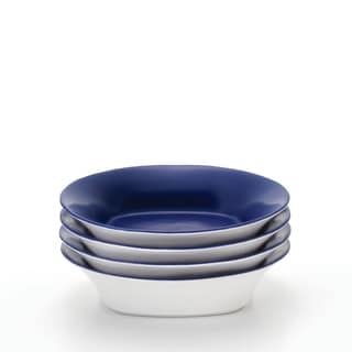 Rachael Ray 'Round and Square' 4-piece Blue Raspberry Pasta Bowl Set