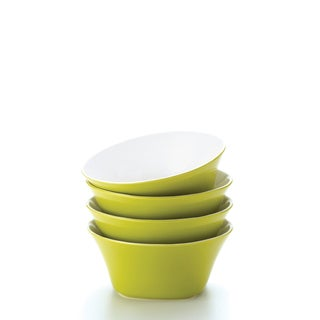 Rachael Ray 'Round and Square' 4-piece Green Apple Cereal Bowl Set